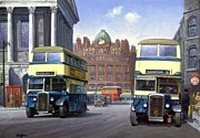 1950s Painting Originals - Birmingham town hall. by Mike  Jeffries