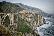 Bixby Bridge Metal Prints - Bixby Bridge Vista Metal Print by Heather Applegate