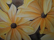 Black Eyed Susan Print Paintings - Black Eyed Susans by Eric Peterson