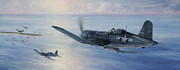 Us Navy Paintings - Black Sheep Patrol by Wade Meyers