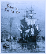 Schooner Prints - Blame It On The Rum Schooner Print by John Stephens