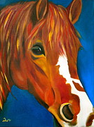 Warm Colors Paintings - Blaze by Debi Pople