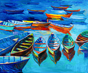 Acrylic Image Paintings - Blue by Ivailo Nikolov