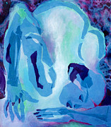 Diane Fine Art - Blue Nude by Diane Fine