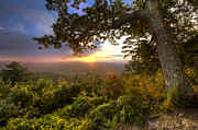 Tn Prints - Blue Ridge Mountain Sunset Print by Debra and Dave Vanderlaan