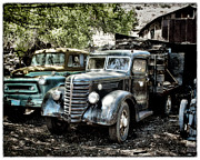 Junkyard Framed Prints - 2 Blue Framed Print by Robert Albrecht