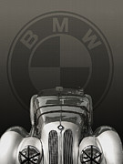Curt Johnson Art - Bmw 328 1938 by Curt Johnson