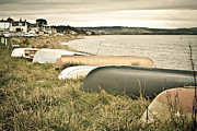 Trawler Metal Prints - Boats at Findhorn Metal Print by Tom Gowanlock