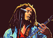 Release Painting Framed Prints - Bob Marley Framed Print by Paul Meijering