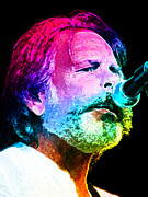 Dobro Digital Art Posters - Bob Weir Poster by Julie Turner