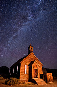 Night Framed Prints - Bodie Church Framed Print by Cat Connor