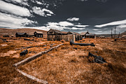 Abandoned Houses Digital Art Prints - Bodie Ghost Town Print by Jerome Obille