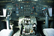 Boeing 747 Metal Prints - Boeing 747 cockpit Metal Print by Micah May