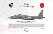 333 Framed Prints - Boeing F-15E Strike Eagle Framed Print by Arthur Eggers