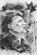Live Music Drawings - Bono by Timothy Carey