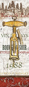Corkscrew Prints - Bordeaux Blanc 1 Print by Debbie DeWitt