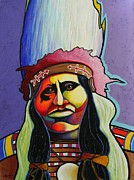 Contemporary Native Art Paintings - Born to Lead by Joe  Triano
