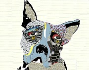 Dogs Mixed Media - Boston by Brian Buckley