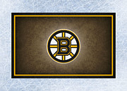 Puck Prints - Boston Bruins Print by Joe Hamilton