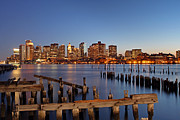 Piling Framed Prints - Boston Framed Print by Juergen Roth