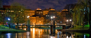 Urban Buildings Prints - Boston Lagoon Bridge  Print by Joann Vitali