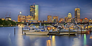 Charles River Framed Prints - Boston Nights 3 Framed Print by Joann Vitali