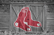 Baseball Glove Framed Prints - Boston Red Sox Framed Print by Joe Hamilton