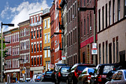 Narrow Perspective Framed Prints - Boston street Framed Print by Elena Elisseeva