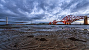Fife Framed Prints - Both Forth Bridges Framed Print by John Farnan