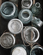 Mason Jars Photos - Bottle Bonanza II by Debra Pruskowski