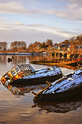 Wooden Ship Prints - Bowling Harbour 02 Print by Antony McAulay
