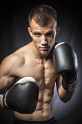 Boxing  Prints - Boxer Print by Juan  Silva