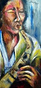 Soul Musicians Paintings - Boy Blue by LaVaughn Wright