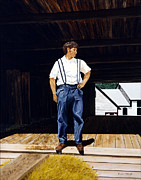Haist Posters - Boy in the Barn Poster by Ron Haist