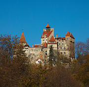 Fall Scenery Prints - Bran Castle Print by Gabriela Insuratelu