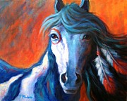 Colorful Horse Paintings - Brave One by Theresa Paden