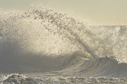 York Beach Metal Prints - Breaking Waves Metal Print by Anahi DeCanio