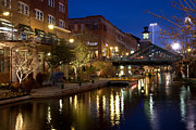Riverwalk Posters - Bricktown Canal Oklahoma City Poster by Bill Cobb