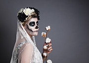 Make-up Prints - Bride of the Dead Print by Nailia Schwarz