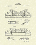 Bridge Drawings Prints - Bridge 1918 Patent Art Print by Prior Art Design