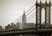 Lower Manhattan Framed Prints - Bridge from the bridge Framed Print by RicardMN Photography