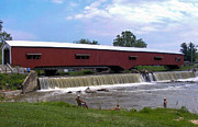 Bridgeton Covered Bridge Art - Bridgeton Covered Bridge by Marie Sharp