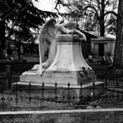 Headstone Photos - Broken Angel  by Peter Piatt