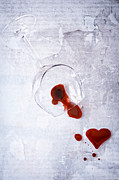 Wine-glass Posters - Broken Glass Poster by Joana Kruse