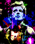 Bruce Springsteen Digital Art Prints - Bruce Springsteen Print by Allen Glass