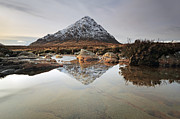 Winter Photos Framed Prints - Buachaille Etive Mor Framed Print by Grant Glendinning