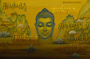 Tibetan Buddhism Paintings - Buddha. The message. by Yuliya Glavnaya