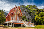 Thai Prints - Buddhist Temple Print by Adrian Evans