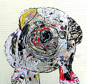Portraits Of Pets Mixed Media - Bulldog  by Brian Buckley