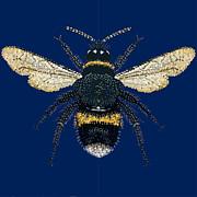 Bumblebee Bedazzled Print by R  Allen Swezey